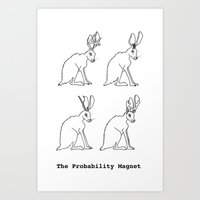 The Probability Magnet (with text) Art Print