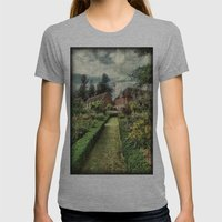 Secret Garden Womens Fitted Tee Athletic Grey SMALL