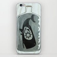 Whale In A Bottle | Ship… iPhone & iPod Skin