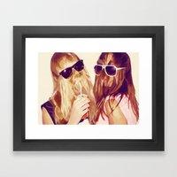 It Girls Framed Art Print