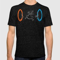Forever Late Mens Fitted Tee Tri-Black SMALL