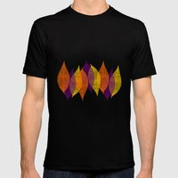 Fall Leaves Mens Fitted Tee Black SMALL