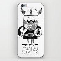 11th Century Skater - White iPhone & iPod Skin