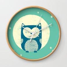 The Moon Owl Wall Clock
