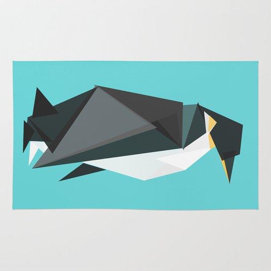 Fractal geometric emperor penguin Area & Throw Rug