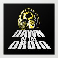 Dawn of the Droid Canvas Print