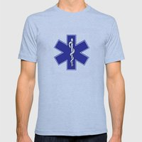 life star  Mens Fitted Tee Athletic Blue SMALL