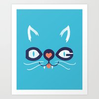 Cats 'n Dogs! Art Print