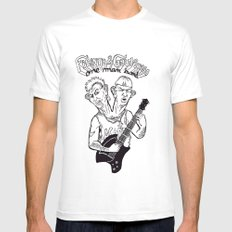 One man band White SMALL Mens Fitted Tee