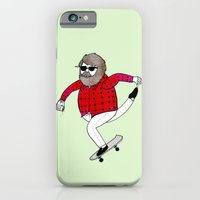 On how to overcome certain obstacles while skateboarding iPhone 6 Slim Case