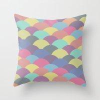 Circles Abstract 3 Throw Pillow