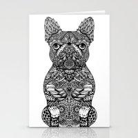 Mandala Frenchie Stationery Cards