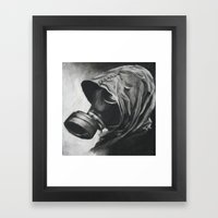 The Gas Mask Framed Art Print