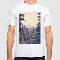 Mountains Through The Tr… Mens Fitted Tee Ash Grey SMALL