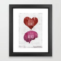 OPEN HEART, OPEN MIND Framed Art Print