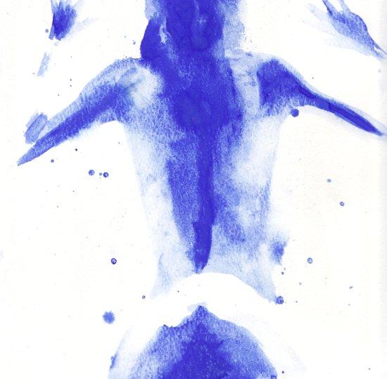Woman in watercolour 2 Art Print