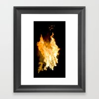 Face In The Flames Framed Art Print
