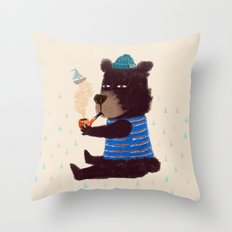 BLACK BEAR SAILOR II Throw Pillow