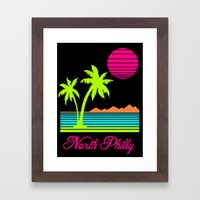 Tropical North Philly Framed Art Print