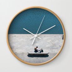 The reader and the river Wall Clock