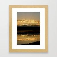 Sunsetting On A Golden P… Framed Art Print