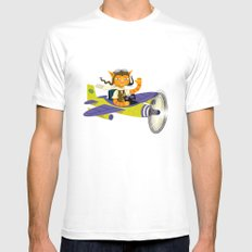 Tibbles Learns To Fly Mens Fitted Tee SMALL White