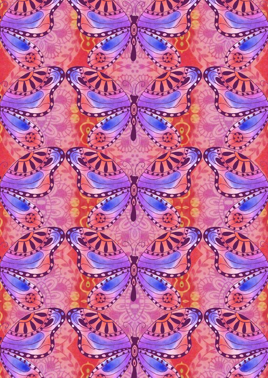India Butterfly Art Print