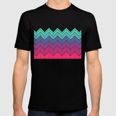 Chevron color SMALL Black Mens Fitted Tee