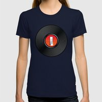 Off The Record Womens Fitted Tee Navy SMALL