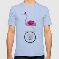 flamingo unicycler Mens Fitted Tee Athletic Blue SMALL