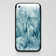 iPhone & iPod Skin featuring Soft Baby Blue Petal Ruf… by Judy Palkimas