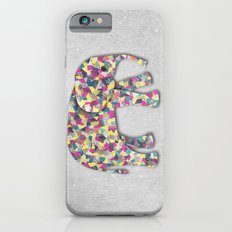 Elephant Collage in Gray Hot Pink Teal and Yellow iPhone 6s Slim Case