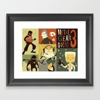 Metal Gear Solid: Snake Eaters Framed Art Print