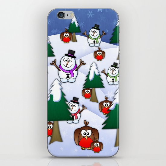 Rocking Robin In A Winter Wonderland. iPhone & iPod Skin