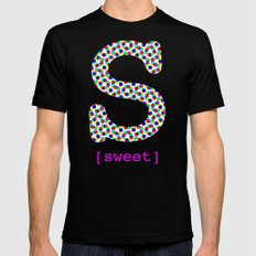 #S [sweet] Mens Fitted Tee Black SMALL