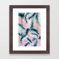 Pink tropical haze Framed Art Print