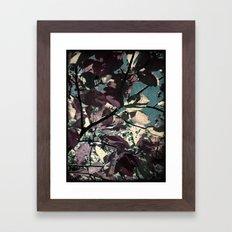 Cool Fall Leaves Framed Art Print