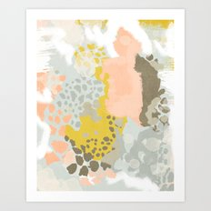 Upton - Abstract painting perfect for dorm room phone case abstract art and feminine abstract art Art Print