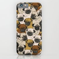 birthday iPhone & iPod Cases featuring Social Pugz by Huebucket