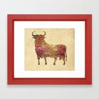 The Vintage Bull Framed Art Print