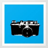 Leica in Blue Art Print