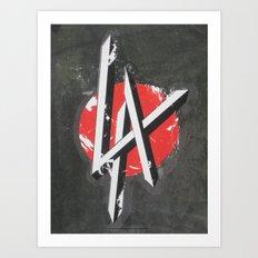 Art On The Run: Heavy Metal LA sticker, Hollywood, CA Art Print
