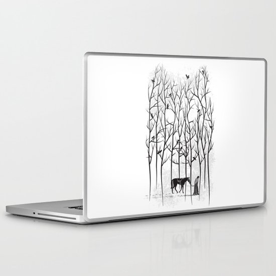 Snow & Ghost Amongst Crows Laptop & iPad Skin