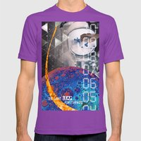 Giant Leap collage Mens Fitted Tee Ultraviolet SMALL