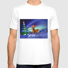 Rudolph Mens Fitted Tee SMALL White