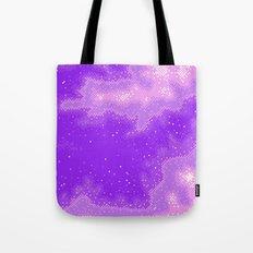 Purple Nebula (8bit) Tote Bag
