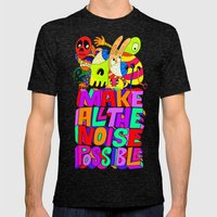 Make All The Noise Possible Mens Fitted Tee Tri-Black SMALL
