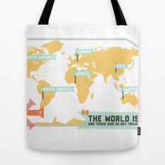 The World is a Book Tote Bag