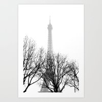 eiffel Art Prints featuring eiffel by FERNANDAЯAMOS