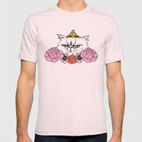 Queen Cat Mens Fitted Tee Light Pink SMALL